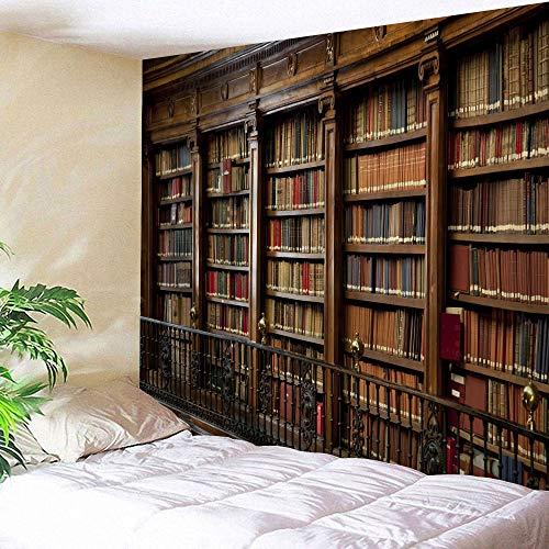 KHKJ Misterioso Tapiz de estantería para Puerta, Tapiz psicodélico para Colgar en la Pared, Tapiz artístico de Biblioteca Misterioso, Toalla de Playa Hippie A1 150x130cm