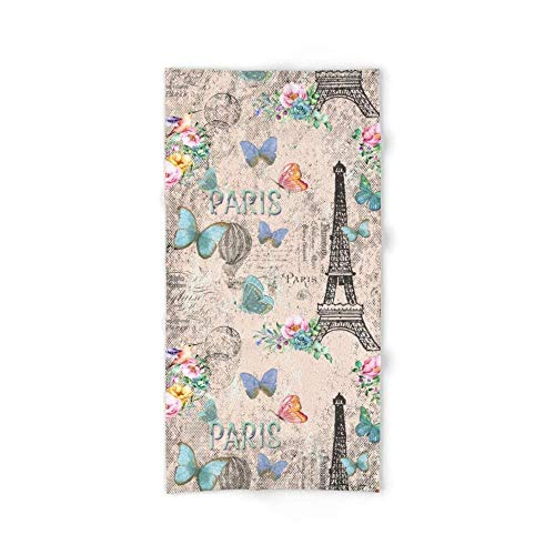 But why miss Paris - My Love - France Nostalgy- Pink French Vintage Bath Towel 31.5\