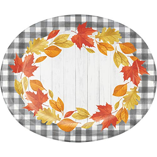 Fallen Leaves Oval Plates, 24 ct