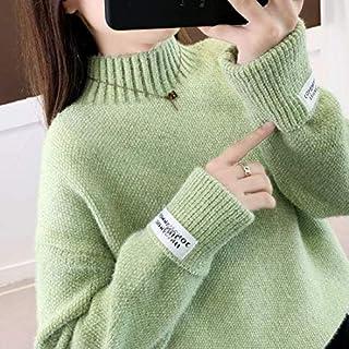 SDJYH suéteres y pulóveres para Mujer Otoño Invierno Jersey de Manga Larga Jersey de Punto Informal 44