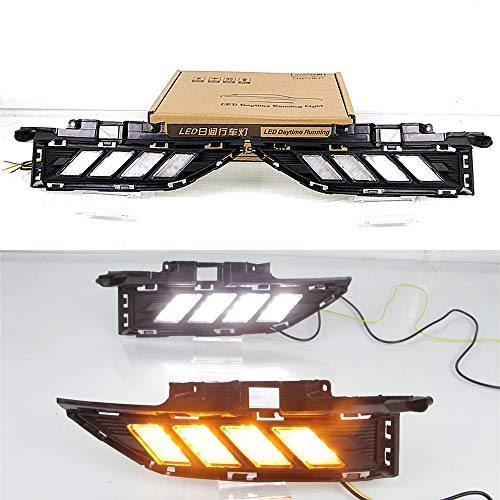 July King LED Tagfahrlicht DRL-H-Kona-2018 für Kona Encino 2018 2019, LED Frontstoßstange DRL + Gelb Streamer Blinker Licht