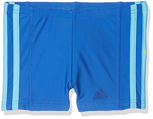 adidas Jungen Fitness 3-Streifen Badehose, Blue/Bright Cyan, 164