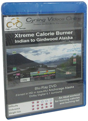 Xtreme Calorie Burner! Indian to Girdwood.BLU_RAY EDITION Virtual Indoor Cycling Training / Spinning Fitness and Weight Loss Videos [Blu-ray]