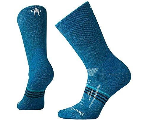 SmartWool Women's PhD Outdoor Heavy Crew Socks (Glacial Blue) Medium