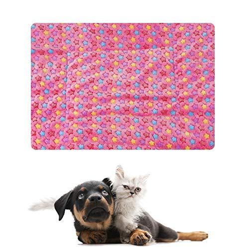 Cama para Mascotas Manta para Cama para Perros Cama para Gatos Cama para Gatitos Lavable Manta Suave Estera para Gatos Mullida Manta Gruesa para Mascotas Manta para Perros Pink,S