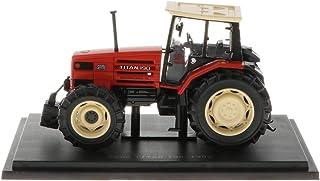 perfeclan Modelo de Escala Vehículo Juguetes Diecast Model Toy - 1/43 Tractor Rojo