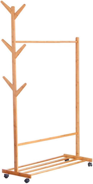Universal Pulley Coat Rack Multifunctional Floor Hanger Bedroom Creative Simple Living Room Hanger Movable Coat Rack (Size   70)