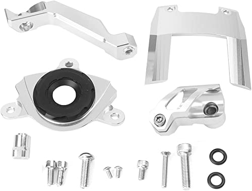 discount Mallofusa discount Motorcycle wholesale Stabilizer Steering Damper Bracket Mount Holder Kit Compatible for Kawasaki Z1000 2015 2016 2017 Silver sale