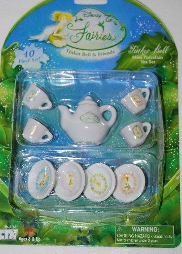 Disney Tinkerbell Tinker Bell Tea Set : Mini Porcelain Tea set