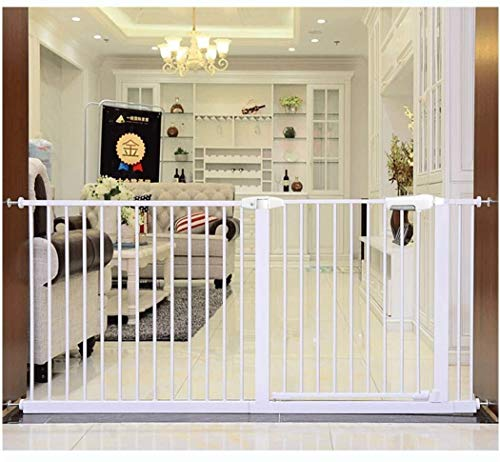 Lanrui Guardrail Garden Door Stairs Fence Pressure Fit Safety Metal Gate Stands 78cm tall The width can be selected from 56 to 275 Pet Gate baby gate with Extensions Available