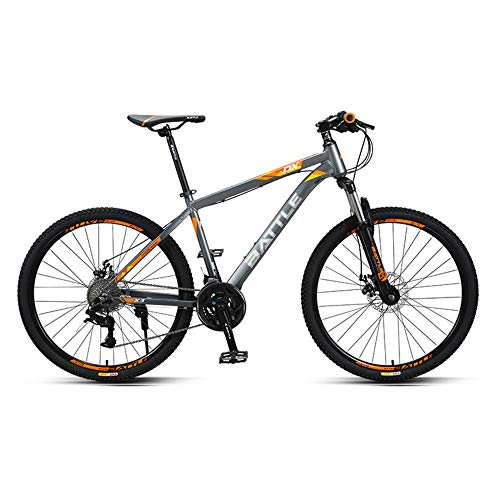 Mountain Bike, Cross-Country Variable Speed Bike, 26-inch Tires, 27-Speed, Aluminum Alloy Special-Shaped Frame, Inner Cable Design, Suitable for Adults and Students/A/As Shown