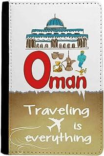 Portefeuille de voyage avec symbole Oman et symbole national