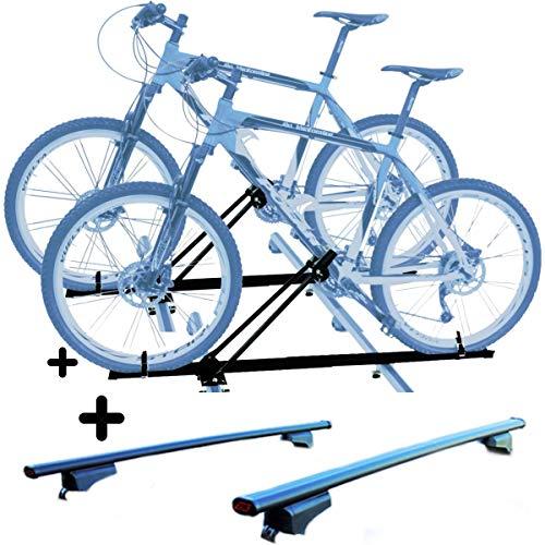 PROPOSTEONLINE Due Portabici da Tetto Auto per Lexus NX 5p (2014 in Poi) 2X Porta Biciclette compatti con Chiusura comprese Barre Portatutto