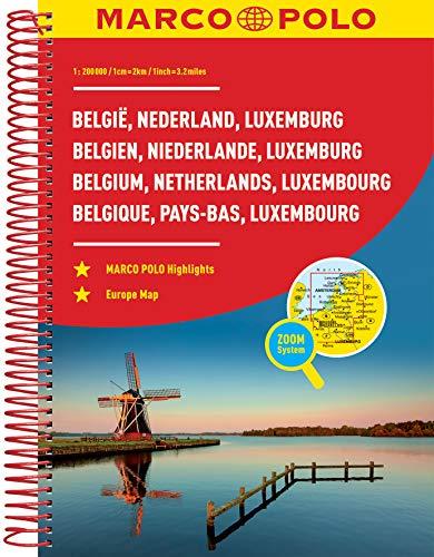 MARCO POLO Reiseatlas Benelux, Belgien, Niederlande, Luxemburg 1:200.000: Wegenatlas 1:200 000 (MARCO POLO Reiseatlanten)