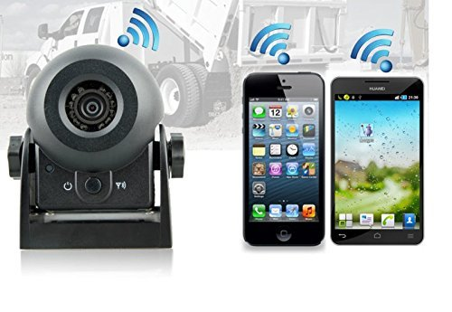 YMPA Rückfahrkamera WiFi WLAN Funk kabellos Magnet Batterie Akku Android IOS Smartphone Tablet für Anhänger Pferdeanhänger Transporter Wohnmobil Auto KFZ PKW RFK-WLAN