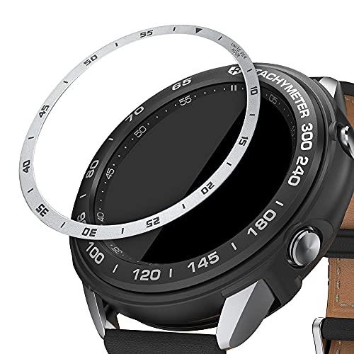 kwmobile Protezione Display Compatibile con Samsung Galaxy Watch 3 (41mm) Fitness-tracker - Sticker Proteggi-schermo per Smart-Watch argento nero