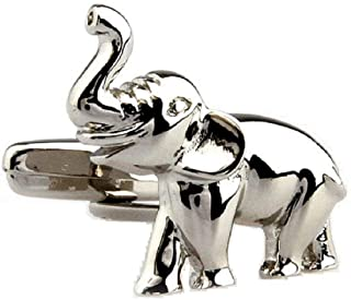 MRCUFF Elephant Pair Cufflinks in a Presentation Gift Box & Polishing Cloth