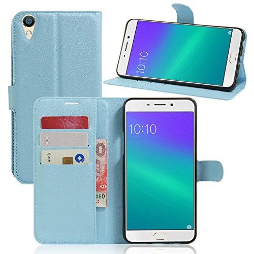 Litao-Case CN Hülle für Oppo R9 Plus hülle Flip Leder + TPU Silikon Fixierh Schutzhülle Case 7