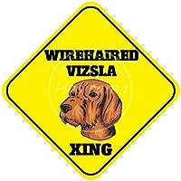 Wirehaired Vizsla Xing 金属板ブリキ看板警告サイン注意サイン表示パネル情報サイン金属安全サイン