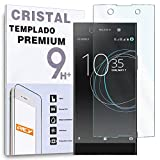 REY Protector de Pantalla para Sony Xperia XA1 Plus, Cristal Vidrio Templado Premium