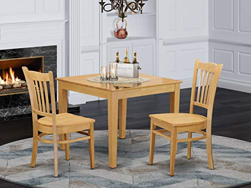 3 PC Table and Chairs set - Dinette Table and 2 Dining Chairs