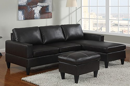 Poundex All in One Sectional in Black