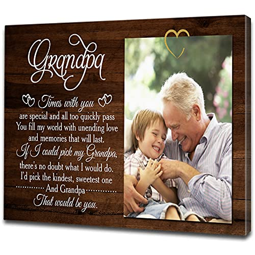 Grandpa Personalized Canvas| That Would Be You Grandpa| Father's Day Gift for Grandpa| Grandpa & Grandkids Custom Photo| Papa Birthday, Christmas Gift| N1593 (16x12 inch)