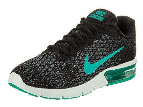 Nike Women's Air Max Sequent 2 Running Shoe (6.5, Black)