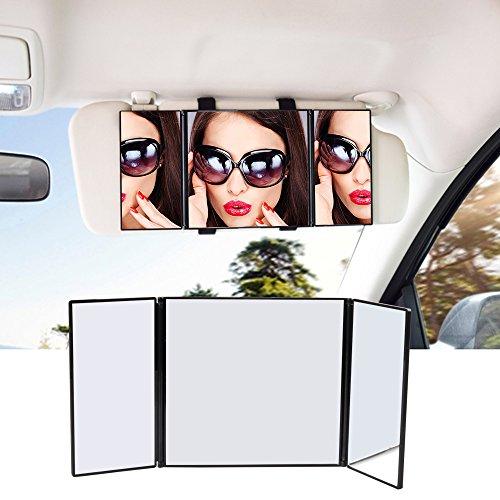 ATKKE Miroir de pare-soleil de voiture universel...