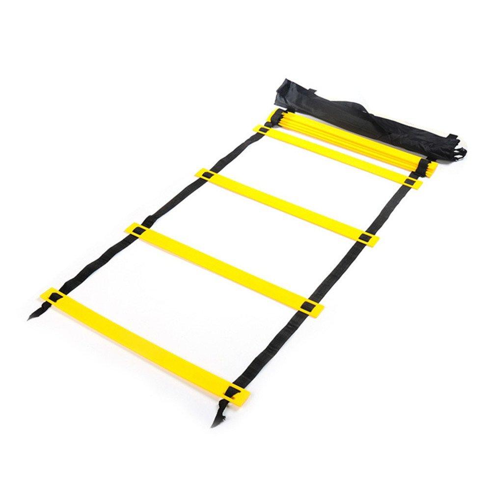 QHGao Escalera Ágil con Bolsa De Mano, Cuerda De Escalera De Salto Ajustable, Escalera De Entrenamiento De Ritmo De Fútbol, Ideal para Entrenamiento Físico De Deportes Al Aire Libre: Amazon.es: Hogar