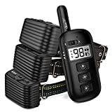 Dog Training Collar & Anti Bark Collar 2 in 1 - Rechargeable Remote Shock Collar w/3 Training Modes, Beep, Vibration, Static (can Lock) Up to 1300Ft Remote Range, 100% Waterproof for Dogs (DB500G3)