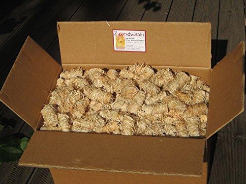 Zündwolli 11 kg Anzünder aus Holzwolle und Wachs Ofenanzünder Kaminanzünder Grillanzünder Brennholzanzünder Kaminholzanzünder Holzanzünder