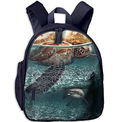 Yuanmeiju Diving Turtle Mochilas Escolares para Estudiantes Pies Super Bookbag