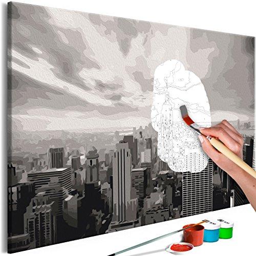 murando - Malen nach Zahlen New York 60x40 cm Malset mit Holzrahmen auf Leinwand für Erwachsene Kinder Gemälde Handgemalt Kit DIY Geschenk Dekoration n-A-0557-d-a
