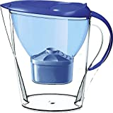 Lake Industries7000 Alkaline Water Filter Pitcher, 7-Stage Cartridge Composed of Ion Exchange Resin, Tourmaline, Mineral Balls and Carbon, Removes Free-Radicals and Eliminates Toxins, 2.5 Liters