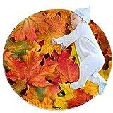 Laire Daniel Área alfombra niñas habitación niños alfombra ruggables lavables alfombras dormitorio adolescente, hojas de arce