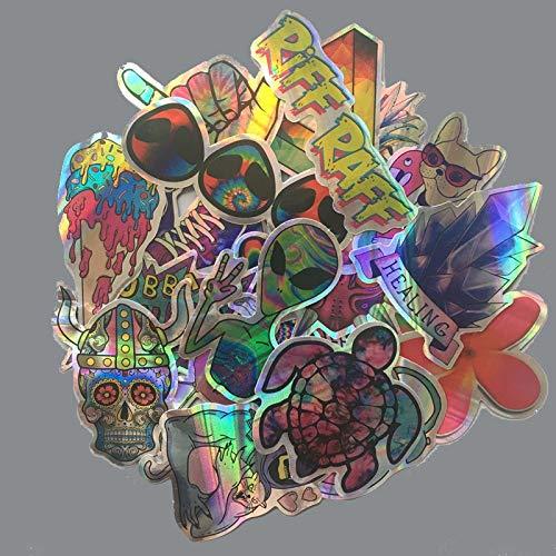 BLOUR 20Pcs / Lot Cartoon ET Alien Aufkleber Blinken Lustig Cool Wasserdicht Gepäck Laptop Motorrad Skateboard Telefon Flash Graffiti Abziehbilder