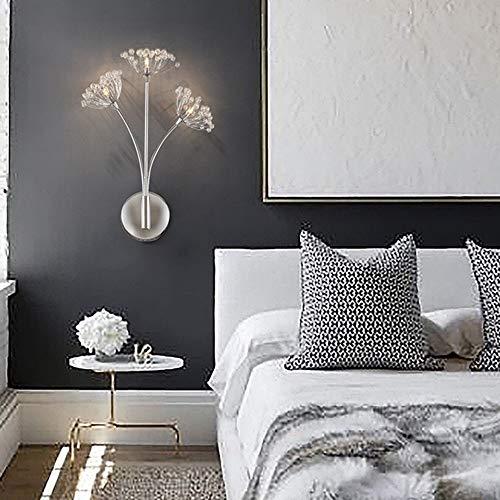WHSS Diente de león de cristal LED creativo moderno minimalista sala de estar estilo europeo lámpara de pared lámpara de noche dormitorio escaleras 30 * 42 cm pared luces