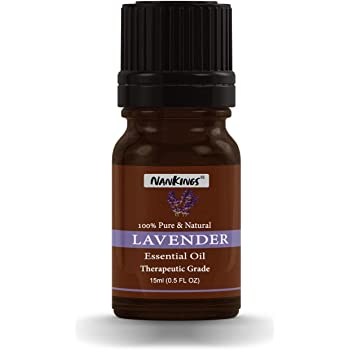 Nankings Lavender Essential Oil For Better Sleep, Hair, Skin And Aromatherapy.100% Pure & Natural (15ml)