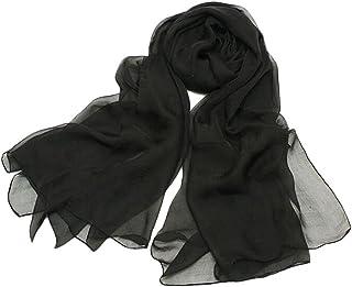 Bullidea Chiffon Shawls Women Lady Long Plain Chiffon Scarves Summer Sunscreen Soft Wrap Neck Shawl Scarf Solid Color Ligh...