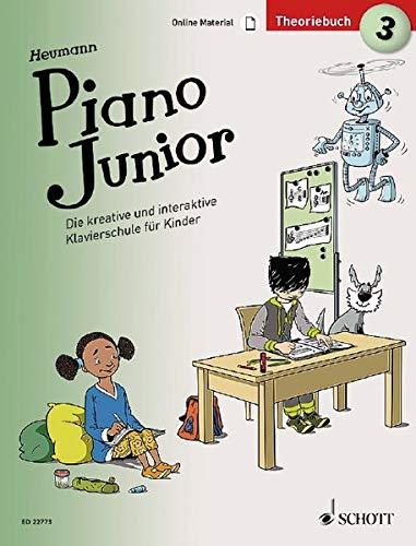 Piano Junior: Theoriebuch 3: Die kreative und interaktive Klavierschule für Kinder. Band 3. Klavier. Ausgabe mit verschiedenen Online-Materialien. (Piano Junior - deutsche Ausgabe)