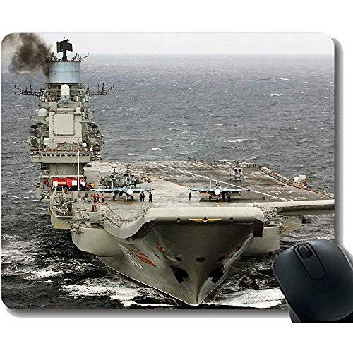 muismat met gestikte rand vliegtuigen vervoerder Russische vliegtuigen vervoerder admiraal Kuznetsov grote Gaming Mat