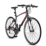 Adult Mountain Bike,21-Speed Road Bicycle,700C Lightweight Aluminum Frame Road Bike for Men and...