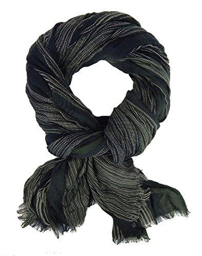 Ella Jonte Écharpes foulard d'homme élégant et tendance de la dernière collection hiver by Casual-Style vert noir coton - idéal pour l'hiver mais auss