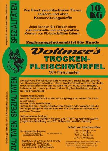 Vollmer\'s 37113 Hundefutter Trockenfleischwürfel 25 kg