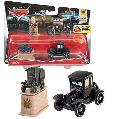 Doppelpack Modelle Auswahl | Disney Cars | Cast 1:55 Fahrzeuge Auto | Mattel, Typ:Stanley & Lizzie