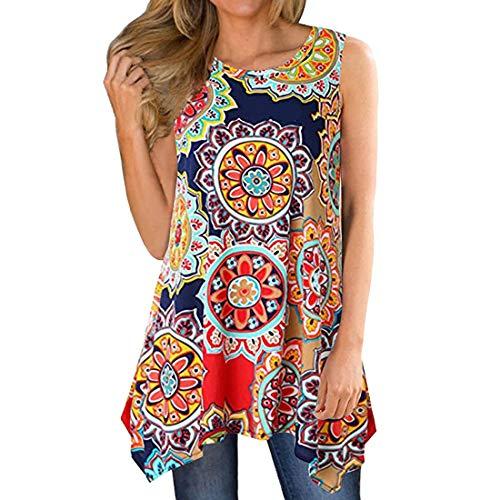 Tops con Hombros para Mujer Informales con Cuello Redondo y Camisa Lisa Superiores Camiseta Suelta sin Mangas Florales con Hombros Descubiertos de Verano con Vestidos con Volantes Tops Sueltos Casual