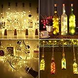 9x 20 LED Flaschen-Licht, Flaschenlichter Weinflasche Flaschenlicht Kork Flaschen Licht LED Lichter Lichterkette Flaschen DIY- Flaschen Lichter für Hochzeit Party Romantische Deko – [ Warm-weiß] - 8