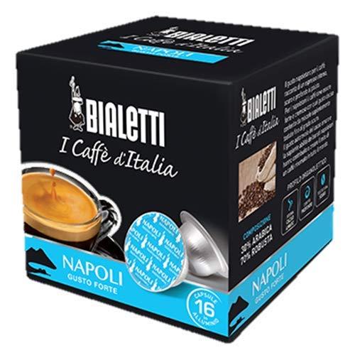 256 Capsule Alluminio Bialetti Mokespresso I Caffe' D'Italia Napoli