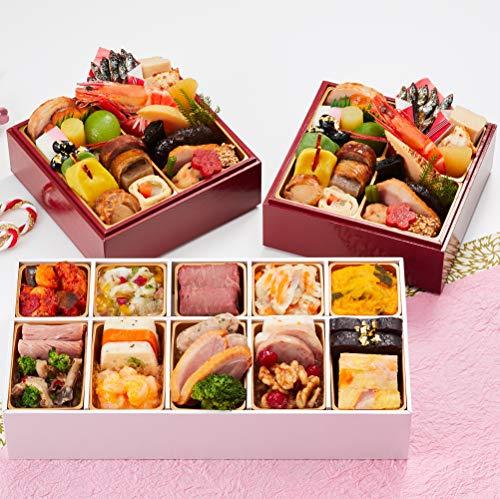 京都 しょうざん おせち料理 2021 和の個食&オードブル 個食二段&洋風一段 46品 盛り付け済み 冷凍おせち 2人前〜3人前 お届け日:12月30日